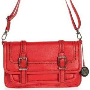 The Sak Laguna Red Leather Crossbody Purse New